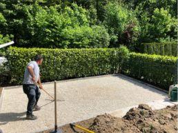 Gartensitzplatz Neugestaltung